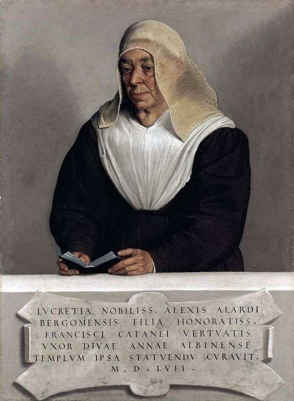 Lucretia Allardi Vertov的修道院   Giovanni Battista Moroni