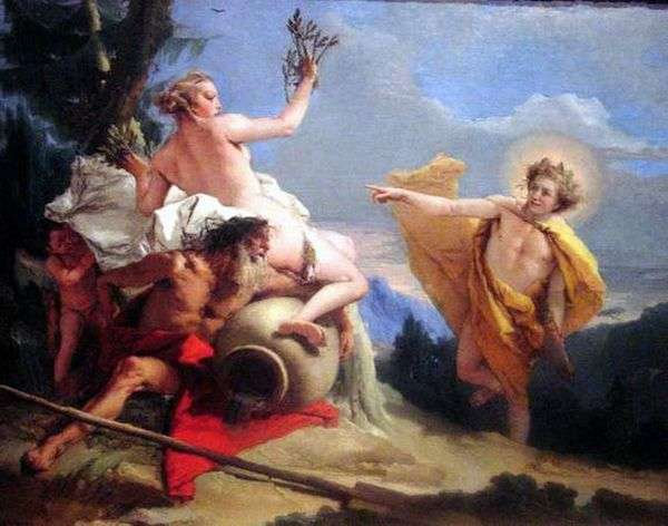 Apollo   Chasing Daphne   Giovanni Battista Tiepolo