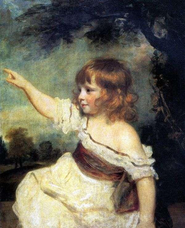 琼斯夫人的画象作为孩子   约书亚雷诺兹