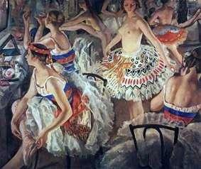 在芭蕾舞更衣室(Great Ballerinas)   Zinaida Serebryakova
