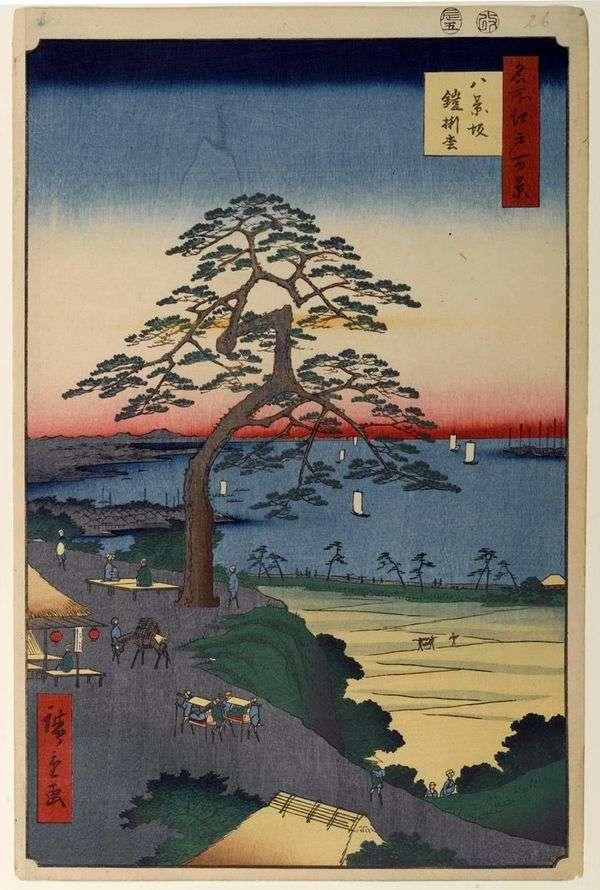 Hakkeizaka,悬崖护甲   Utagawa Hiroshige