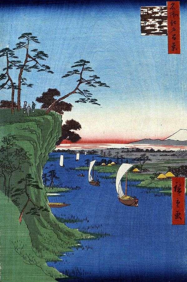 Konodai Hill,Tonegawa River   Utagawa Hiroshige