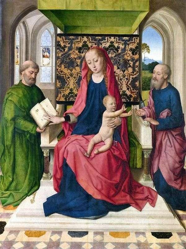 麦当娜和孩子在圣徒彼得和保罗的宝座上   德克布特