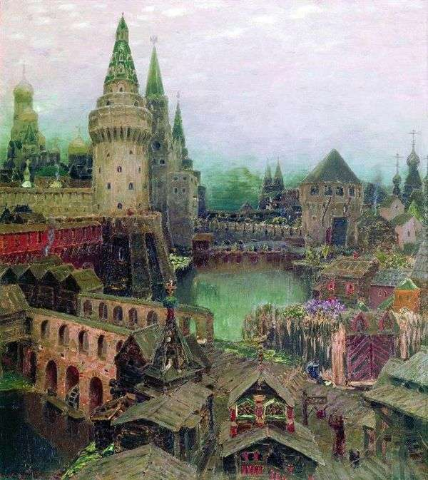 黎明时分在复活桥。17世纪晚期   Apollinary Vasnetsov
