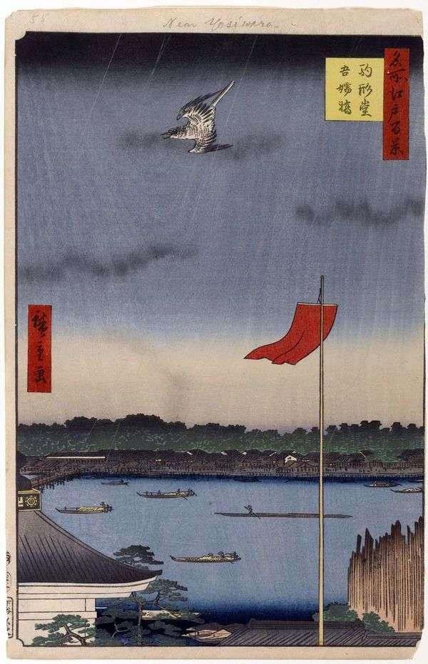 Komakatado寺和Azumabasi桥   Utagawa Hiroshige