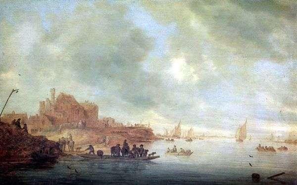 渡轮   Salomon van Ruysdael