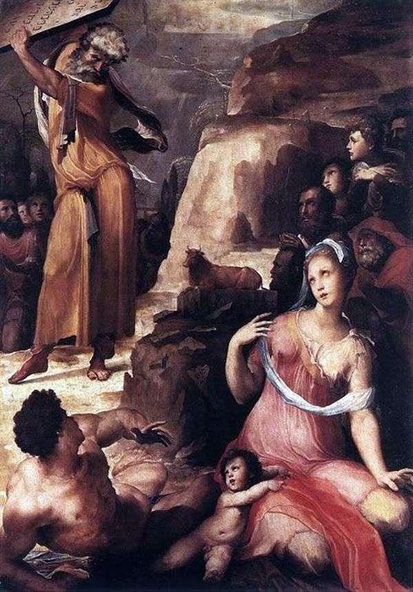摩西和金牛犊   Domenico Bekafumi
