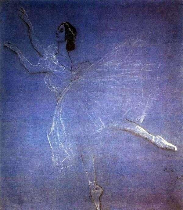 安娜帕夫洛娃在芭蕾舞剧Sylphes   Valentin Serov