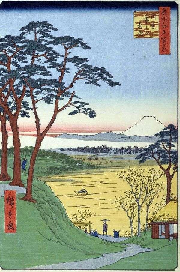 在Meguro的茶Jitzygatyaya(祖父的商店)   Utagawa Hiroshige
