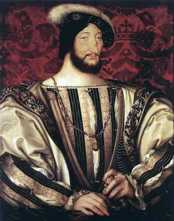 Francis I,法国国王的肖像   Jean Clouet(Clouet,Jean)