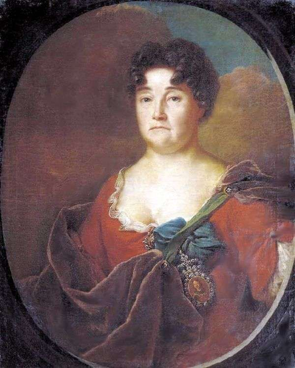 A. P. Golitsyna的肖像   安德烈马特维耶夫