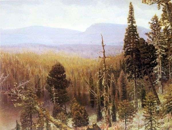 乌拉尔的针叶林。蓝山   Apollinary Vasnetsov