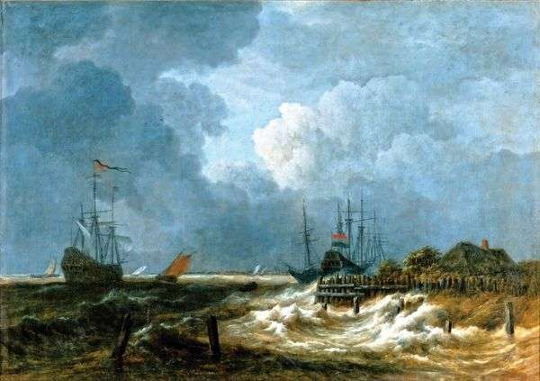 防波堤   Jacob van Ruysdal