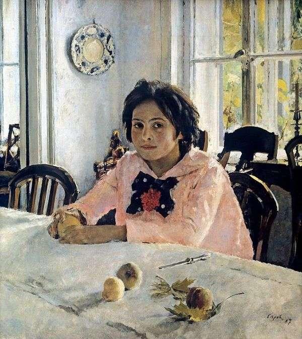 桃子的女孩   Valentin Serov