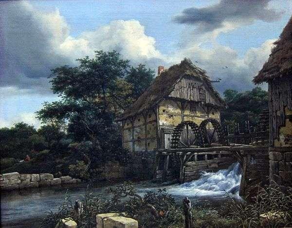 两个水磨坊   Jacob van Ruisdal