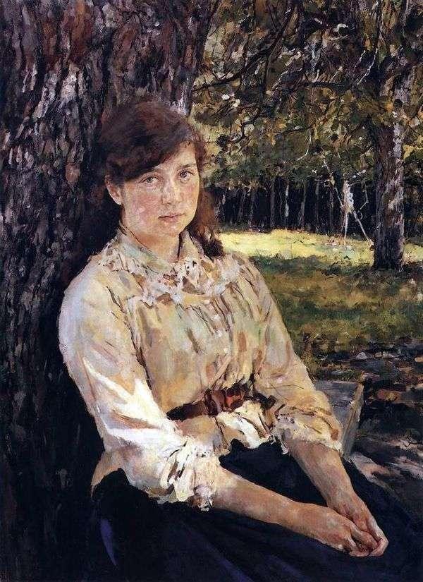 被太阳照亮的女孩(M. Ya. Simonovich的画像)   Valentin Serov