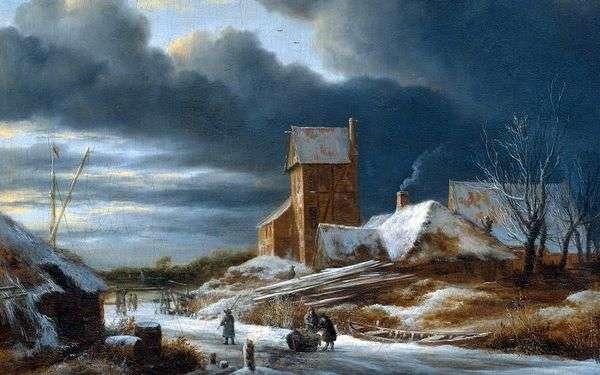 冬季景观   Jacob van Ruysdal