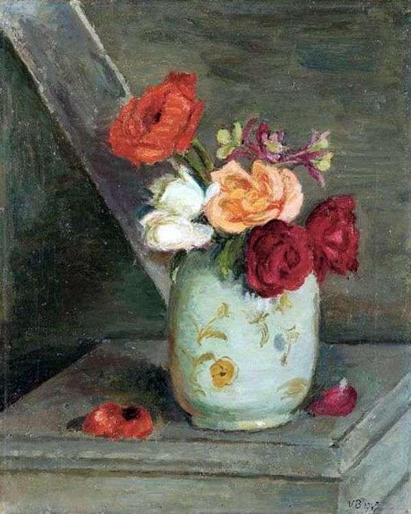 中国花瓶中的玫瑰   凡妮莎贝尔