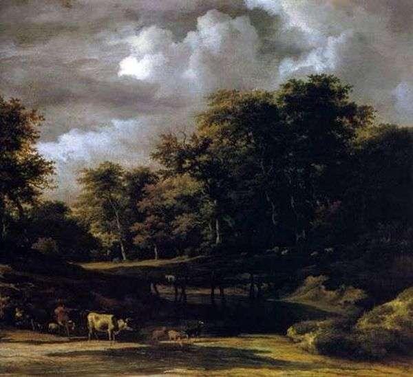 森林景观   雅各布范鲁斯达尔
