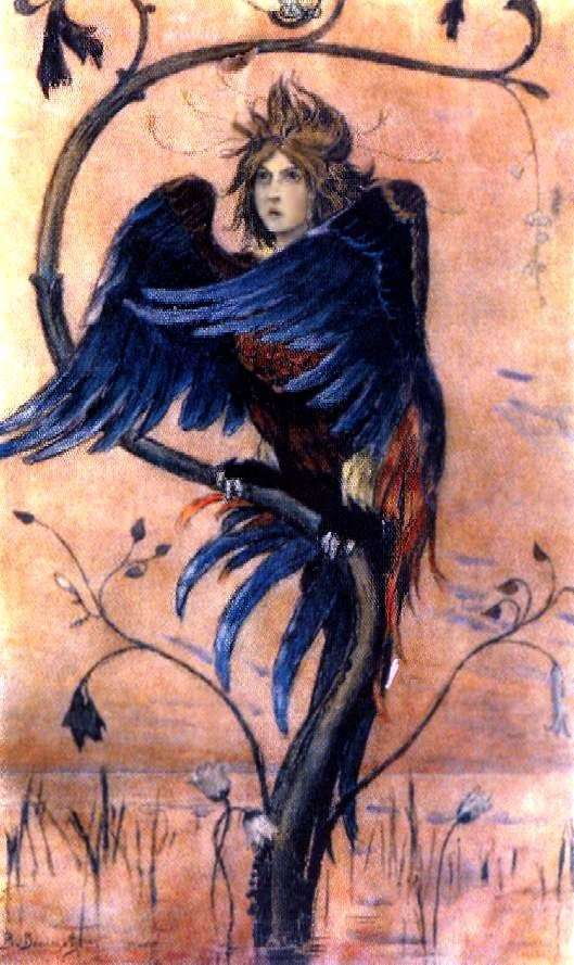 Gamayun,一只战争之鸟   Victor Vasnetsov