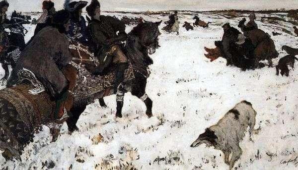 彼得一世正在打猎   瓦伦丁 塞罗夫