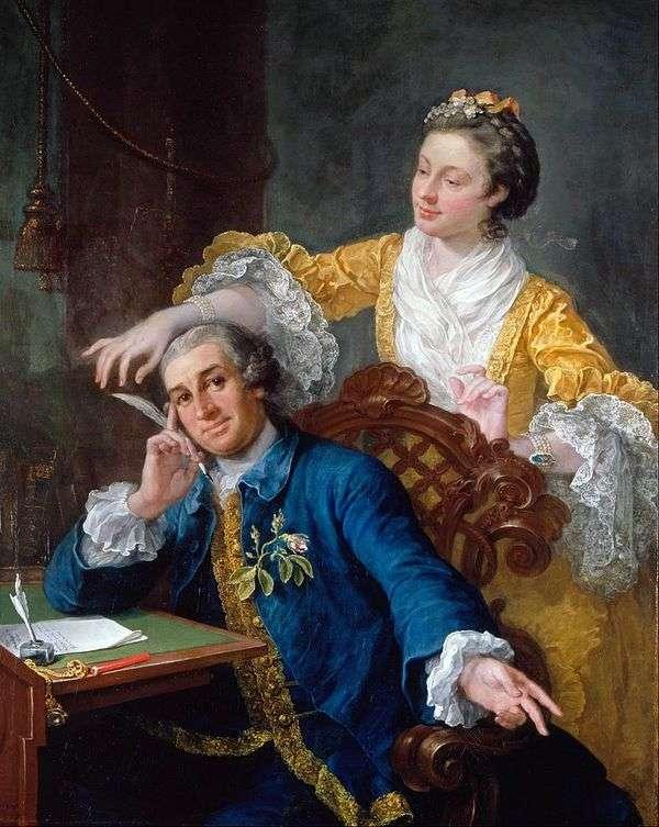 演员加里克和他的妻子   威廉霍加斯的肖像