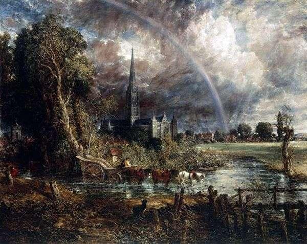 索尔兹伯里大教堂看法从草甸的   约翰Constable