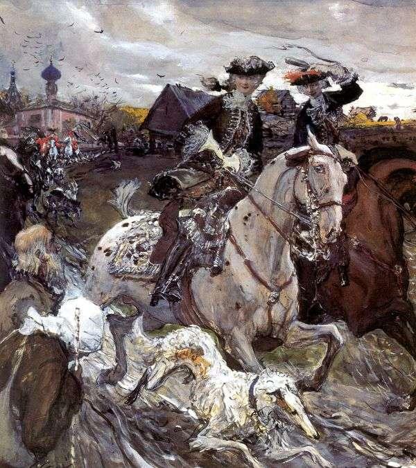 彼得二世和Tsesarevna伊丽莎白猎犬   瓦伦丁塞罗夫