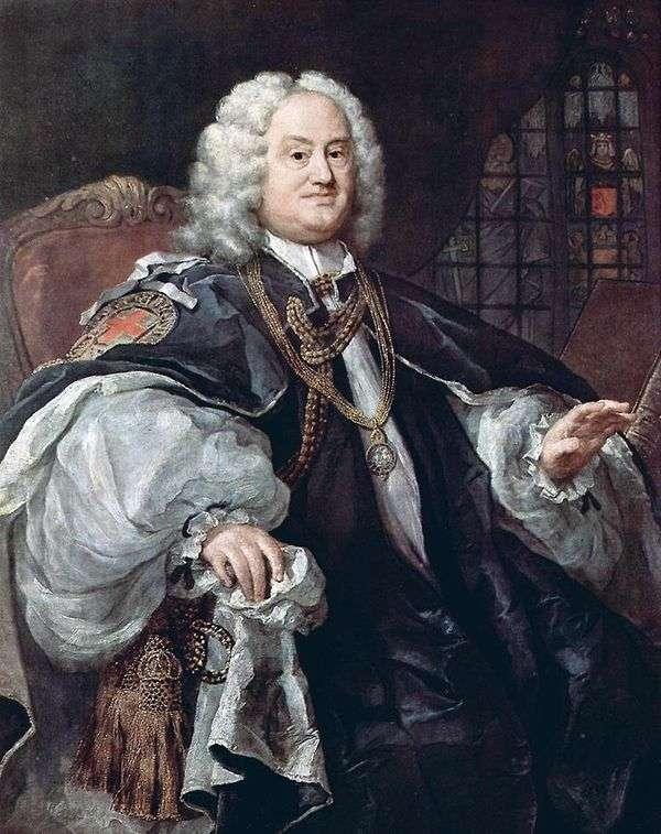 主教霍德利   威廉霍加斯的肖像