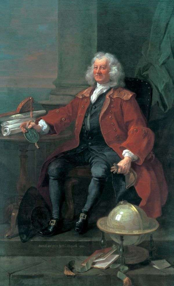 T. Korem船长的肖像   威廉霍加斯