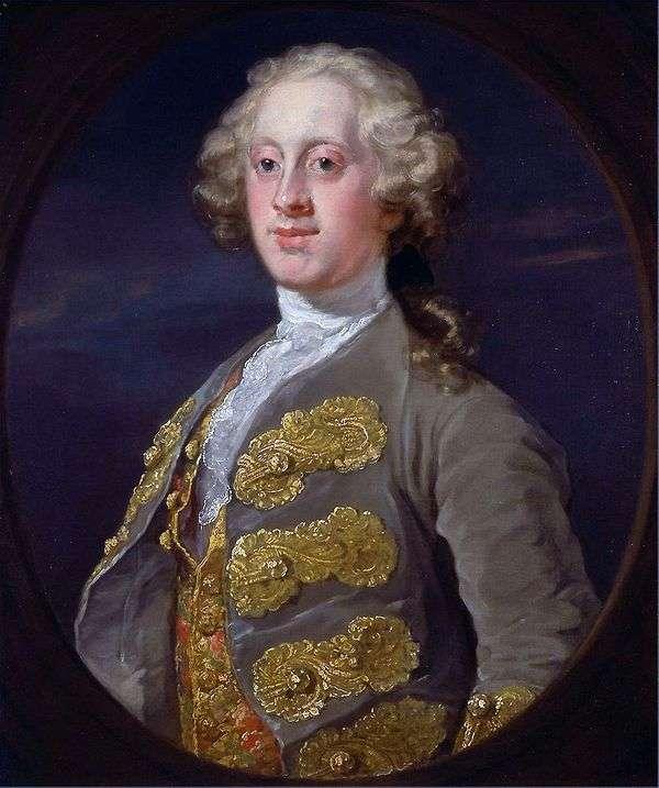 威廉 卡文迪什的肖像,哈廷顿侯爵   威廉 霍加斯