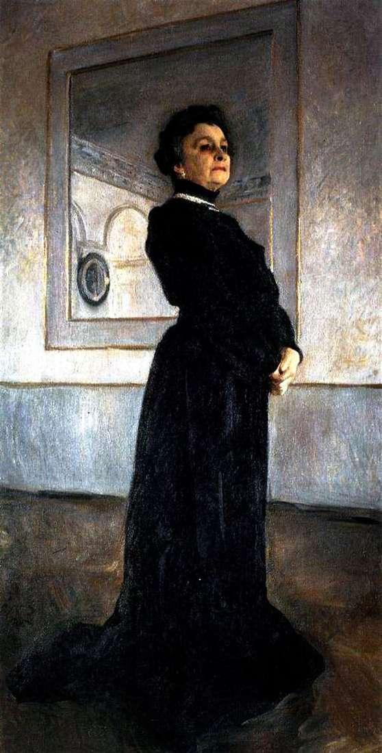女演员M. N. Yermolova的肖像   Valentin Serov