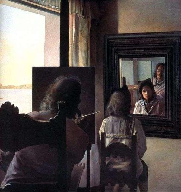 大理背对着,写了一幅Gala   Salvador Dali的肖像