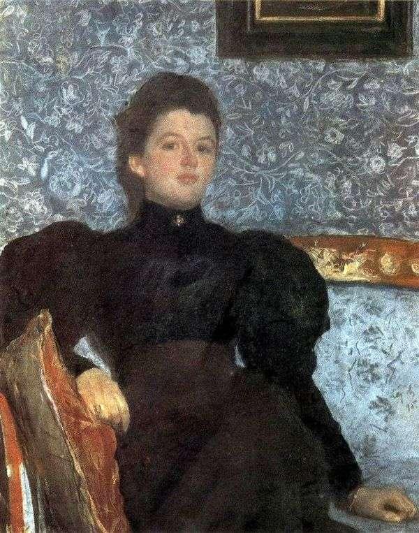 V. V. Musina Pushkina   Valentin Serov的肖像