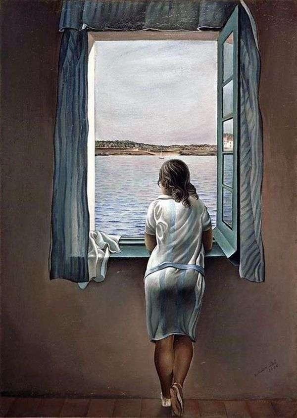 窗口的女孩   萨尔瓦多 达利