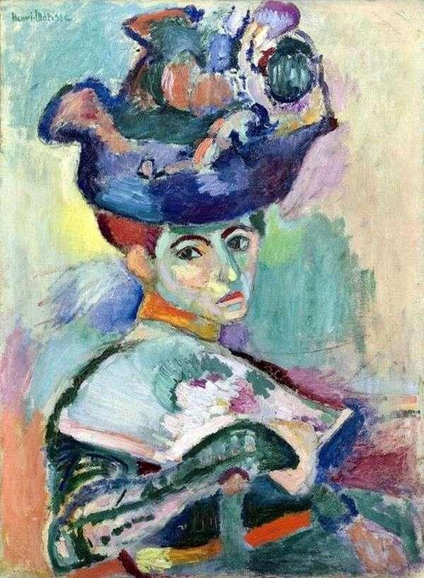 帽子的妇女   亨利马蒂斯