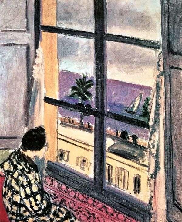窗口的女人   亨利马蒂斯