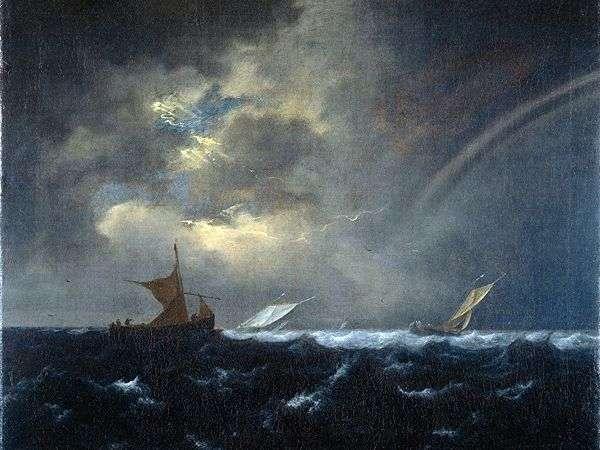 风雨如磐的海中的彩虹   雅各布范瑞斯达尔