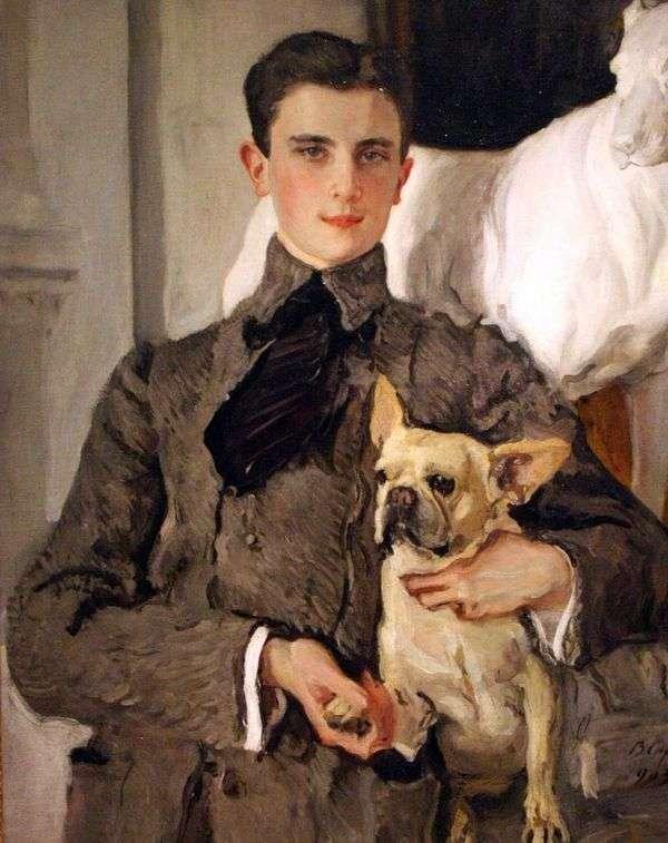F. F. Sumarokov Elston伯爵的肖像,随后是尤苏波夫王子,带着一只狗   瓦伦丁 塞罗夫