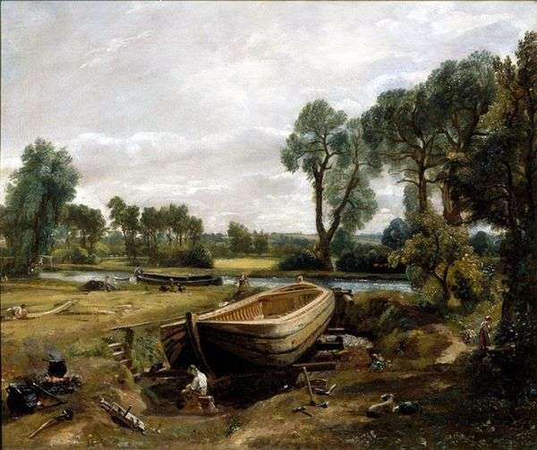 驳船建筑   约翰康斯特布尔