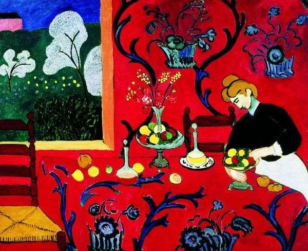 Red Harmony(甜点)   Henri Matisse