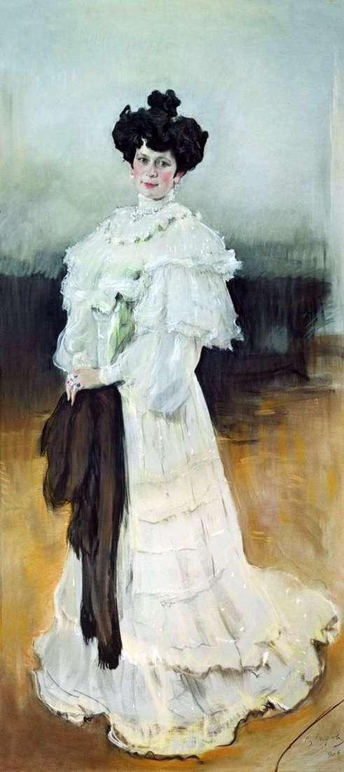 E. A. Krasilshchikova的肖像   Valentin Serov