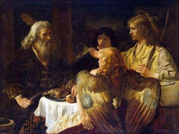 亚伯拉罕和三个天使   伦勃朗哈门斯范莱茵