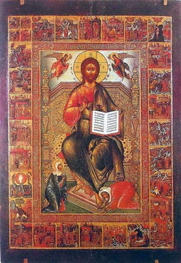 全能的救世主与使徒行传和激情的场景   Semyon Kholmogorets