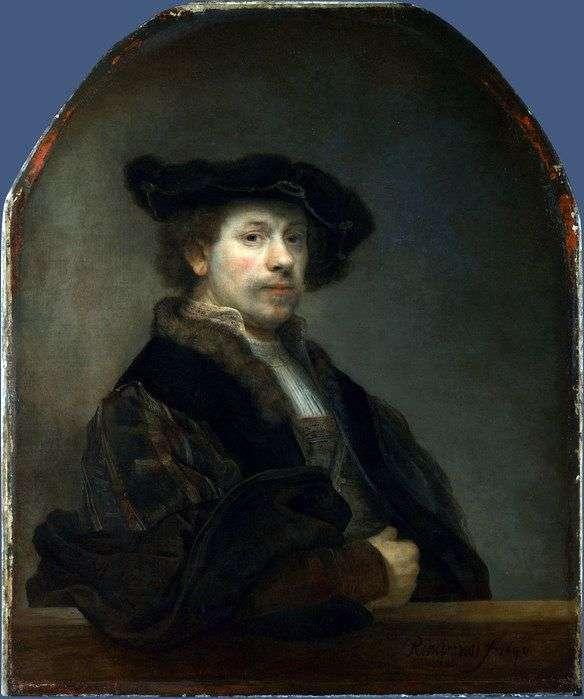 34岁的自画像   Rembrandt Harmens Van Rhine