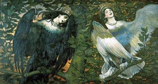 Sirin和Alkonost。欢乐之歌和悲伤   V. M. Vasnetsov