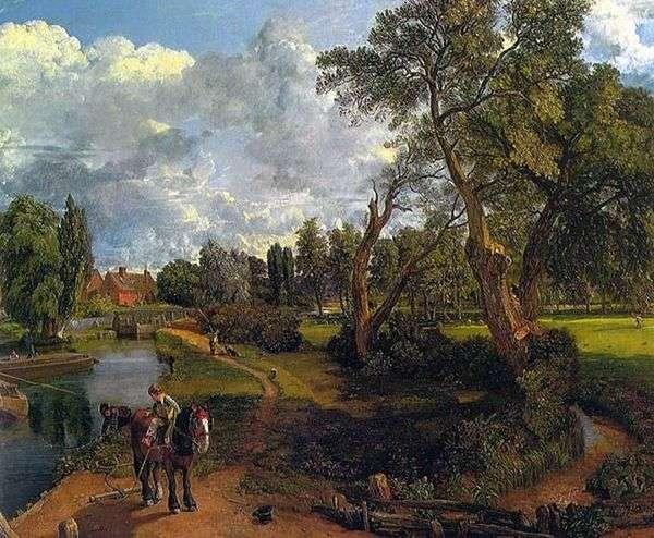 Flatford Mill(可通航河上的场景)   John Constable