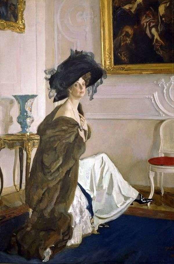 公主O. K. Orlova   Valentin Serov的肖像