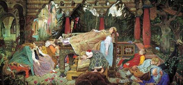 睡公主的故事   Victor Vasnetsov