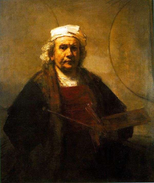 工作中的自画像   Rembrandt Harmens Van Rhine
